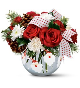 Teleflora's Merry Santa Bouquet in Gaithersburg MD, Flowers World Wide Floral Designs Magellans