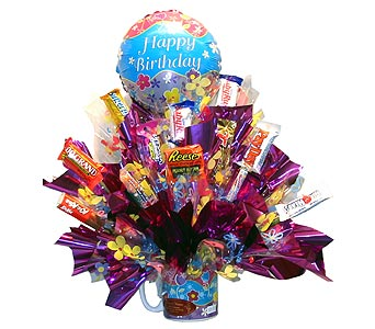 AR-CB40 ''HAVE A BLOOMIN' BIRTHDAY'' (Candy Bouque in Oklahoma City OK, Array of Flowers & Gifts