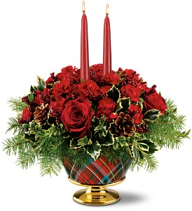 Teleflora's Festive Tartan Bouquet in Northumberland PA, Graceful Blossoms