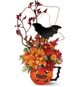 The M&M's® Batmug! Bouquet by TelefloraWas 39.95 Sale 29.95 in Laurel MD, Rainbow Florist & Delectables, Inc.