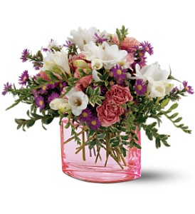 Teleflora's Watercolor Garden Bouquet in Medford NY, Sweet Pea Florist