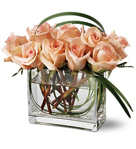 Teleflora's Peaches and Creme Bouquet in Medford NY, Sweet Pea Florist