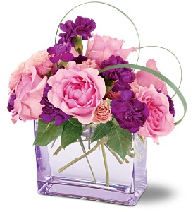 Teleflora's Raspberry Revel Bouquet in Medford NY, Sweet Pea Florist