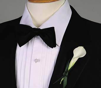 White Calla Boutonniere in Portland ME, Dodge The Florist