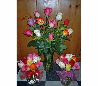 Assorted Rose Trio in Dallas TX, Z's Florist