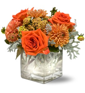 Teleflora's Perfect Orange Harmony in Bayside NY, Bell Bay Florist