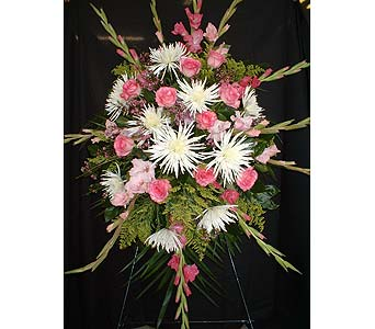 Pinks & Whites Mix - Standing Easel Spray in Dallas TX, Z's Florist