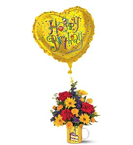 Teleflora's Birthday Surprise Bouquet in Calgary AB, All Flowers and Gifts