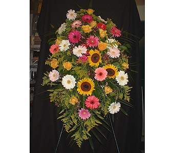 Sunny Mix - Standing Easel Spray in Dallas TX, Z's Florist