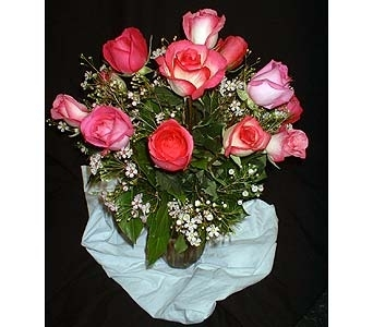 Pink-Candy Rose Mix in Dallas TX, Z's Florist