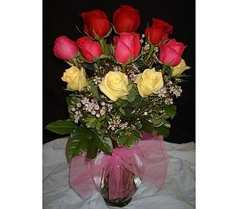 Hot Mix of Roses in Dallas TX, Z's Florist