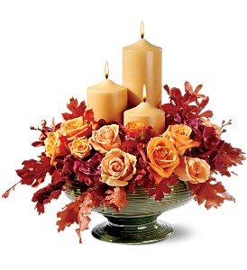 Candles of Autumn in Tarpon Springs FL, Kikilis Florist