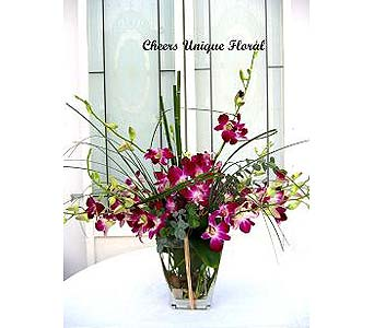 Romancing Orchids in Lake Forest CA, Cheers Floral Creations
