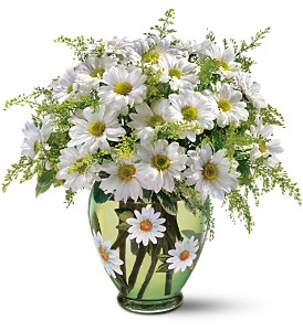 Teleflora's Crazy for Daisies Bouquet in McHenry IL, Locker's Flowers, Greenhouse & Gifts