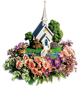 Thomas Kinkade's Chapel Bouquet by Teleflora in Pensacola FL, R & S Crafts & Florist