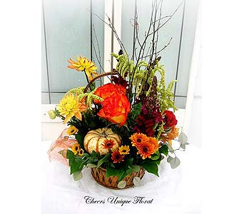 Autumn Harvest Bouquet in Lake Forest CA, Cheers Floral Creations