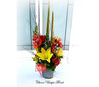 A Fall Garden Bouquet in Lake Forest CA, Cheers Floral Creations