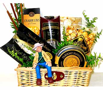 GF9 ''I'd Rather Be Fishing'' Gourmet Basket in Oklahoma City OK, Array of Flowers & Gifts