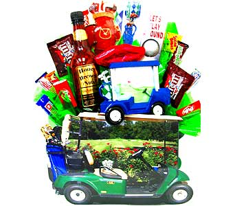 GF5 ''Golf Greens'' Food & Gift Basket in Oklahoma City OK, Array of Flowers & Gifts