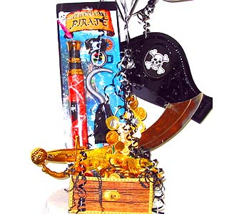 GB186 ''Buried Treasure'' Gift Basket & Balloons was $64.99 in Oklahoma City OK, Array of Flowers & Gifts