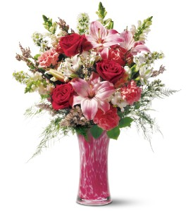 Teleflora's Pink Art Glass Bouquet in Norridge IL, Flower Fantasy