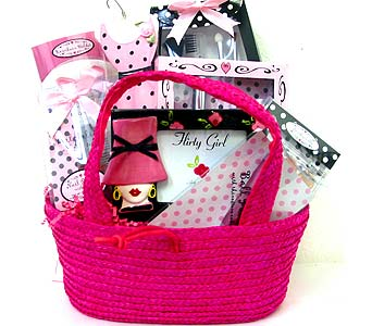 GB195 ''Flirty Girl'' Gift Basket in Oklahoma City OK, Array of Flowers & Gifts