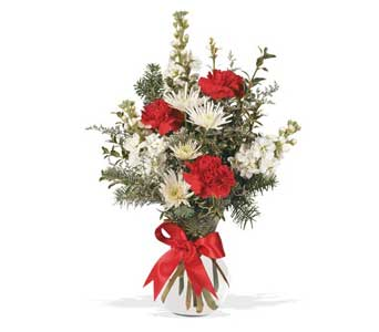 Holiday Vase Arrangement in Cohasset MA, ExoticFlowers.biz