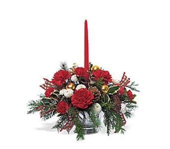 Single Red Taper Centerpiece in Cohasset MA, ExoticFlowers.biz