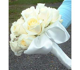 Roses tied with a full satin wrap in Tuckahoe NJ, Enchanting Florist & Gift Shop