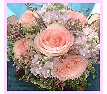 Roses, stock, wax flower & mixed greens in Tuckahoe NJ, Enchanting Florist & Gift Shop