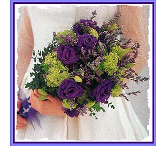 Purple lisianthus bouquet in Tuckahoe NJ, Enchanting Florist & Gift Shop