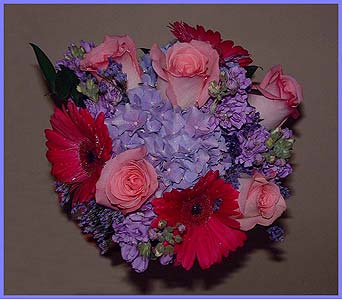 Beautiful summer mixed bouquet tied with ribbon in Tuckahoe NJ, Enchanting Florist & Gift Shop