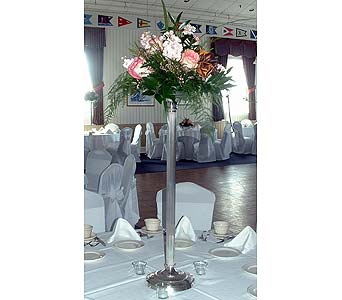 Silver Tower Centerpiece in Tuckahoe NJ, Enchanting Florist & Gift Shop