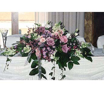 Head Table Arrangment with Trailing Greens in Tuckahoe NJ, Enchanting Florist & Gift Shop