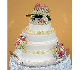 Cake, Roses, & Hydrangea in Tuckahoe NJ, Enchanting Florist & Gift Shop