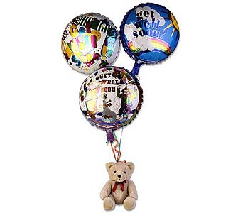 Get Well Bear Balloon Bouquet in Ferndale MI, Blumz...by JRDesigns