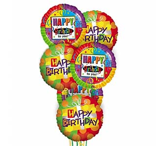 Mylar Birthday Balloon Bouquet in Ferndale MI, Blumz...by JRDesigns