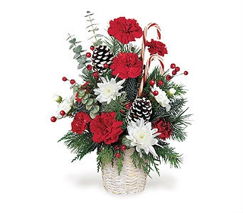 Candy Cane Bouquet in Big Rapids MI, Patterson's Flowers, Inc.