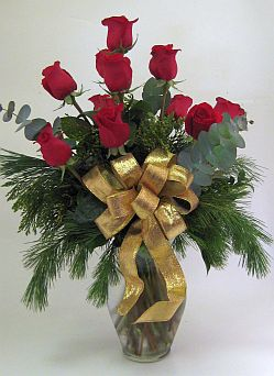 A DOZEN CHRISTMAS ROSES in Salisbury MD, Kitty's Flowers