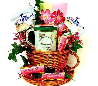 GF21 ''Tea Time'' Gourmet Basket in Oklahoma City OK, Array of Flowers & Gifts