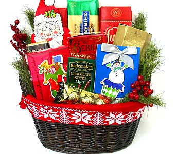 XGF25 ''Whimsical Winter'' Gourmet Basket in Oklahoma City OK, Array of Flowers & Gifts