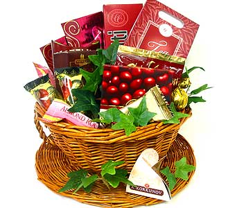 GF22 ''Cranberry Zest'' Gourmet Basket in Oklahoma City OK, Array of Flowers & Gifts