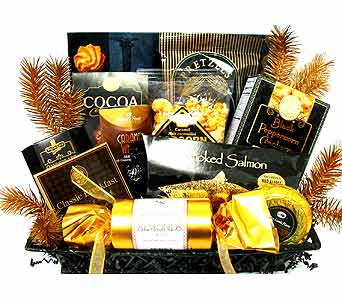 GF38 ''Executive Gourmet Basket'' in Oklahoma City OK, Array of Flowers & Gifts