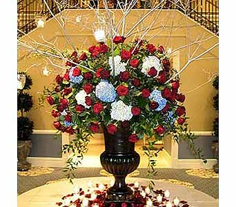 Rose & Hydrangea Foyer Design in Somerset NJ, Flower Station