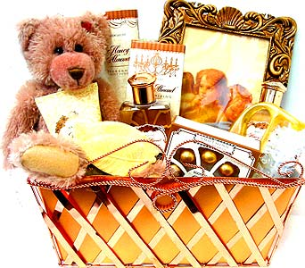GB208 ''Cherished Angels'' Gift Basket in Oklahoma City OK, Array of Flowers & Gifts