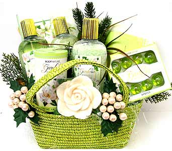 GB212 ''Sweet Breeze'' Bath & Body Basket in Oklahoma City OK, Array of Flowers & Gifts