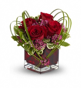 Teleflora's Sweet Thoughts Bouquet with Red Roses in Rantoul IL, A House Of Flowers