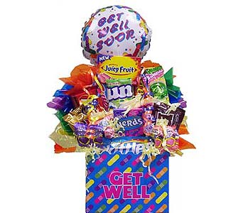 ''GET WELL SOON'' candy b in Wichita KS, The Flower Factory, Inc.