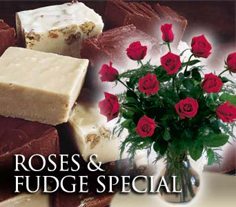 ROSES & FUDGE SPECIAL in Shawnee OK, House of Flowers, Inc.