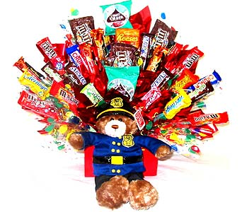POLICEMANCB ''Policeman'' Candy Bouquet in Oklahoma City OK, Array of Flowers & Gifts
